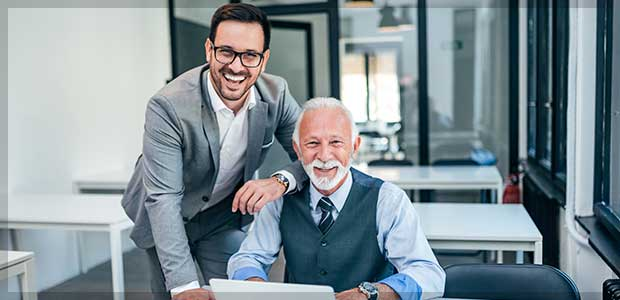 successful business consulting working together